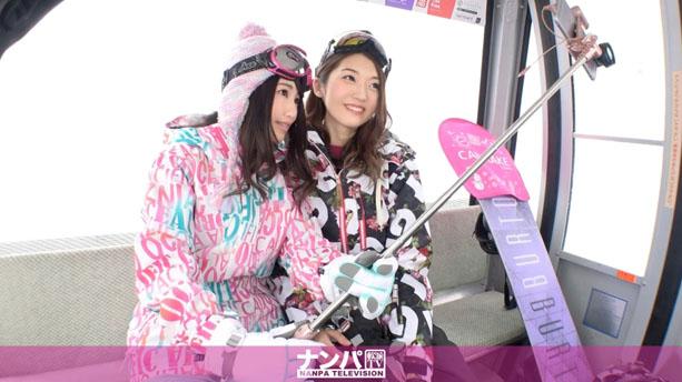 ゲレンデナンパ 02 吹雪の中で見つけたスノボ美女2人組!男も女もエロいトリックで魅せまくり乱れまくりな4P乱交SEX!!