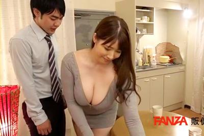 無意識に僕を挑発する上司の奥さんと豊満タイト着衣セックス Jカップ妻の…