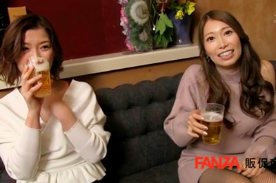 新宿に出没!飲み屋で出会った二人組のお姉さんに敏感乳首をイジリ倒され射精させられ続けた僕。 ハシゴ酒で常に挟み撃ちこねくり性交